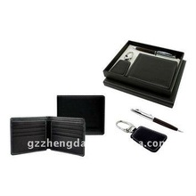 High quality customized made-in-china different size Leather Gift Set for best (ZDG12-051)