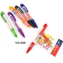 Colourful plastic promotional banner pen