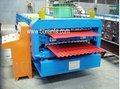 Xf1066-1000 duplo deck telha dá forma à máquina
