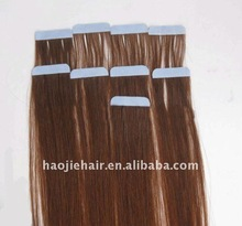 2013 Silky straight human remy hair skin weft, tape hair ,tape hair extension with tape