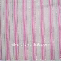 cotton dobby stripe woven fabric (KL110816)