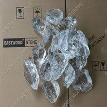 white large glass rocks