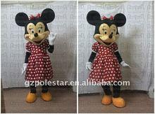 2012 fibre glass new minnie christmas cartoon mascot costume party dress NO.1956