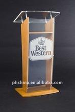 ALPPPD_005 Amber Mahogany Presentation Acrylic Lectern / Plexiglass Podium / Acrylic Platform /Acrylic Pulpit /Acrylic Dais
