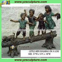 garden bronze playing children sculpture BFS-B453