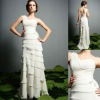 WD-A046 New Style Sexy One Shoulder Floor Length Chiffon Arabic Wedding Dress