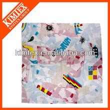 Popular printed handkerchief,100% cotton bandana
