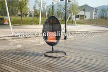patio adjustable swing rattan egg chair