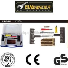 YS-Q641 27pcs tubeless tyre repair kit,auto tyre repair kit,car tire repair tool