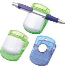 Promotional plastic pen clip, pen holder