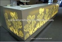 Hi Macs made light reception desk for salon and bar RCD-023