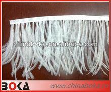 Fashion White Ostrich Feather Lace Trim