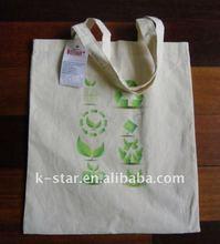 Green natural colour cotton road bag/cotton tote bag