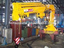 10T.M hydraulic mobile crane&portable folding arm crane