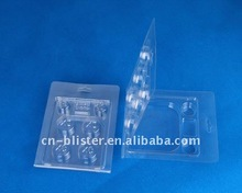 clear clamshell packing box for Geothermal accessories clear blister packing box 11 pieces blister packing