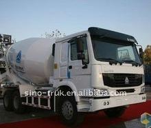 howo white cement mixer truck