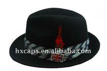 2012 new fashion fedora unisex flat-top cap