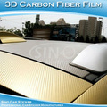 Or 3d en fibre de carbone de vinyle autocollant pour voiture capot. 1.52*30m