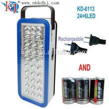 KD-6113 power source could be choosen portable led lantern
