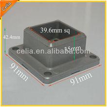 40 mm sq Aluminium Post Base for Fence or Railing