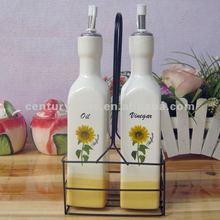 oil and vinegar ceramic bottle