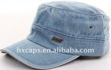 2012 hot sell customized fashion denim military cap