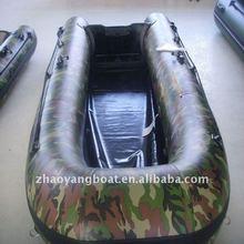 (CE) PVC material optional floor boat