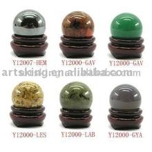 Semi-precious Stone Ball Carving Home Decoration