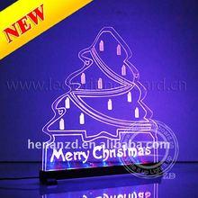 Led writing board Christmas tree and Santa Claus