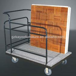 steel dance floor trolley &metal hotel trolley