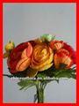 """9"""" laranja artificial camellia buquê de flores"""