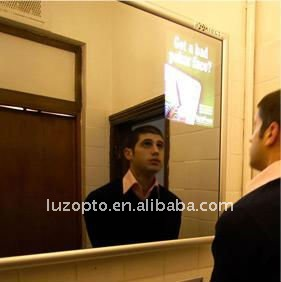 Wall mounted LED Mirror poster display,magic mirror light frame