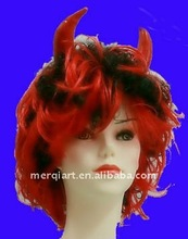 Fashion new halloween party wig with horn