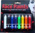 8 cores de pintura no rosto