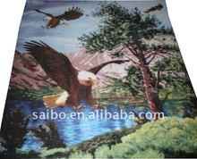 animal design screen printed polar fleece fabric