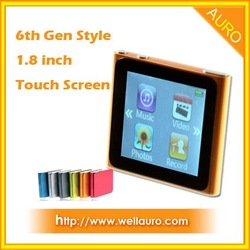 6th Generation 1.8 inch Touch Screen MP3/Mp4 Player