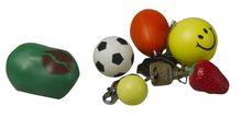 PU mini foam ball key chain /soft stress toy