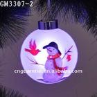 christmas hanging glass ball with led light decoration