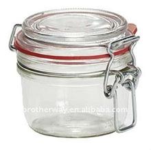 125ml clip top preservative glass jar