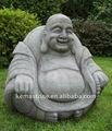 grande jardim de estátuas de buda rindo