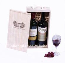 HONGDAO handcrafted pine popular wooden wine box