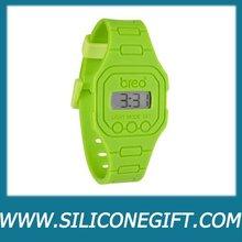 silicone digital sport wrist watch