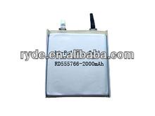 Li-Polymer 555766 2000mAh 3.7V