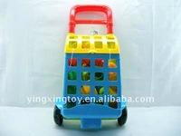 plastic hot sale children toys building block toy cart
