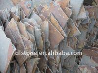 Rusty rough slate wall tile random size