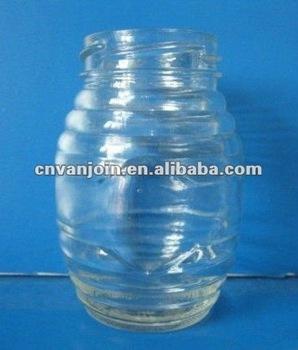 450ML Honeycomb Shaped Glass Bottle for Honey