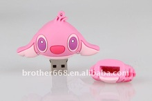 Angel in Pink clothes from LiLo&Stitch PVC and Silicone USB flash disk cover