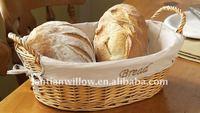 Wholesale cheap wicker rectangular woven wicker bread basket