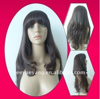 hotselling long silky wave natural straight wig synthetic hair