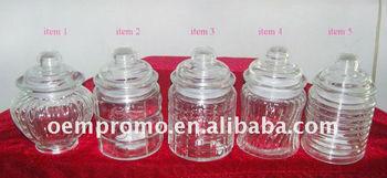 Storage jar, decorative glass jar, food jar, candy jar